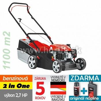 Kosačka benzínová Classic 4.66 P-A Edition, 2 in ONE, bez pohonu, AL-KO PRO 125 / 2,7HP