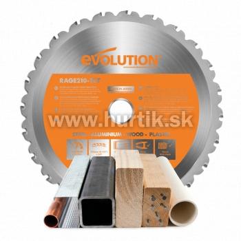 Kotúč pílový EVO 210mm pre RAGE 3-S a R210 CMS, MULTI_funkčný