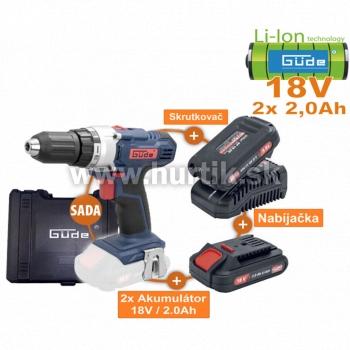 Aku skrutkovač BS 18-201-30K SADA (18V/ 2x akumulátory 2,0Ah + nabíjačka, krabica)