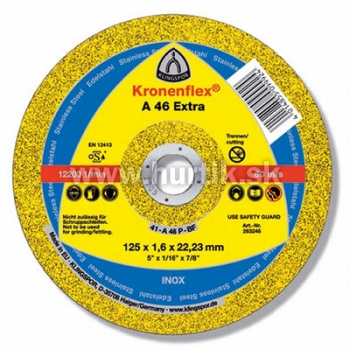 Kotúč rezný 125x1,6x22,2 / A 46 EXTRA (kovy univerzálne, nerez)