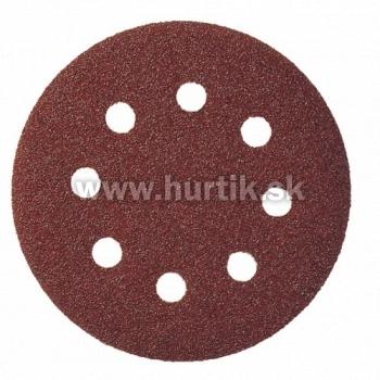 Výsek kruhový Suchý zips 125 mm, K 60 / PS 22 K GLS5/8 dier (drevo, kovy univerzálne, nerez, farba, lak, tmel, plasty)
