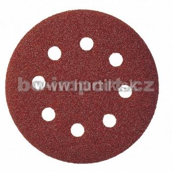 Výsek kruhový Suchý zips 125 mm, K 80 / PS 22 K GLS5/8 dier (drevo, kovy univerzálne, nerez, farba, lak, tmel, plasty)
