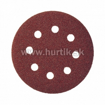 Výsek kruhový Suchý Zips 125 mm, K180 / PS 22 K GLS5/8 dier (drevo, kovy univerzálne, nerez, farba, lak, tmel, plasty)