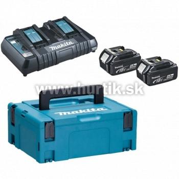 _Aku set - 2x akumulátor (18V, 5,0Ah), dvojnabíjačka DC18RD, systainer