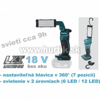 Aku lampa DML801 (18V, bez akumulátorov, nabíjačky a prepravného kufra)
