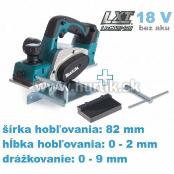 Aku hoblík DKP180Z (18V, bez akumulátorov, nabíjačky a prepravného kufra)