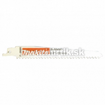List pílový do chvostovej píly 150mm / 1ks (oceľové a liatinové rúry 3-12mm, farebné kovy, izolačný materiál, drevo s klincami)