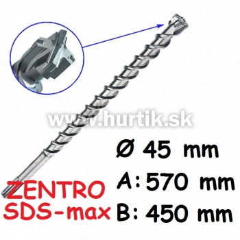 Vrták SDS-max 45x570 / ZENTRO MAX