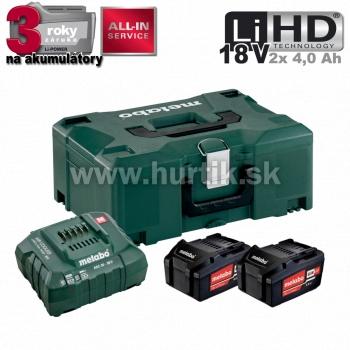 Aku Basic-Set 18V / 2x Li 4,0 Ah + METALOC (18V, 2x aku, nabíjačka 30 min., kufor)