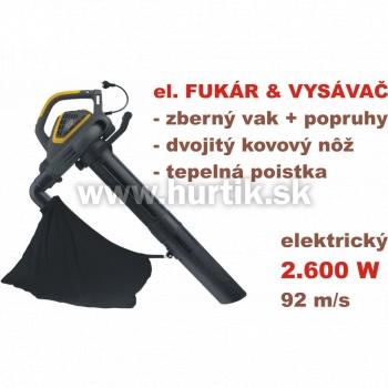 Vysávač lístia elektrický SBL 2600, + fukár - LIMITOVANÁ AKCIA
