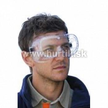 Okuliare ochranné číre s gumičkou