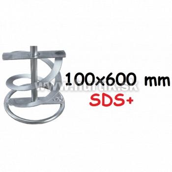 Metla do miešadla, 600mm, priemer 100 mm, SDS plus